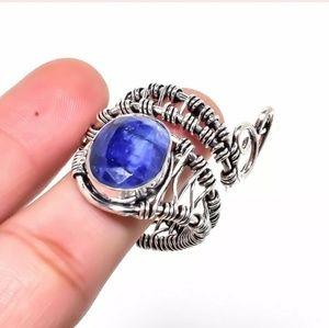 New Rough Sapphire Unique Ring. Size 9 1/2